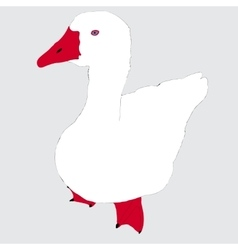 White goose vector image vector image