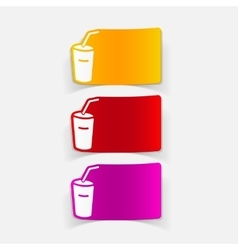 Realistic design element soda vector