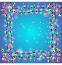 Blue holiday square background vector