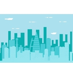 Seamless silhouette urban landscape city real vector