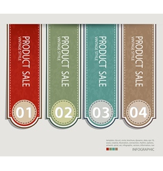 Vintage label paper design vector