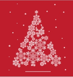 stylized silhouette of Christmas tree formed by vector image