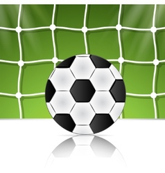 Soccer ball on green background poster design with vector image
