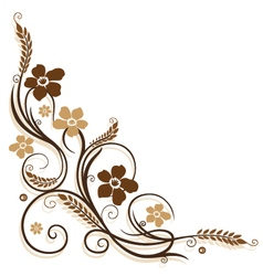 Flowers grain vector