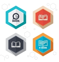 Electronic book signs e-book symbols vector