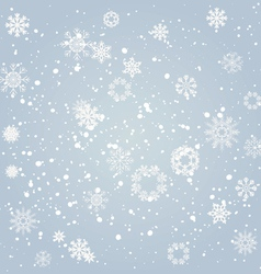 Snowflakes falling from the sky vector