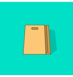 Paper shopping bag icon isolated vector