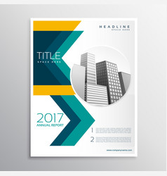 Annual report business brochure template design vector