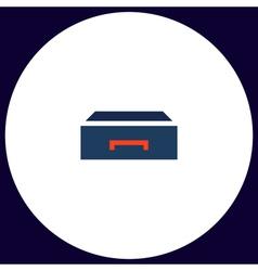 Box computer symbol vector