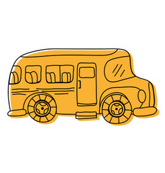 color vehicle school bus education transportation vector image vector image