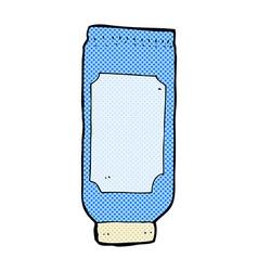comic cartoon lotion vector image