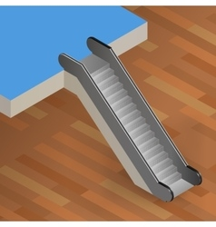 escalator stairway isometric vector image vector image