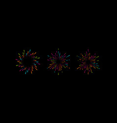 fireworks grapfic shapes vector image