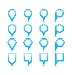 Flat blue color map pin sign location icon vector