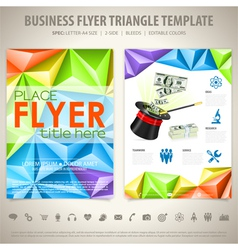 Flyer Design Template vector image vector image