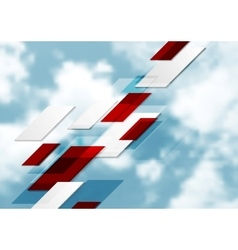 Geometric tech abstract background on sky vector