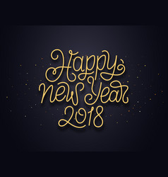 Happy new year 2018 wishes typography vector