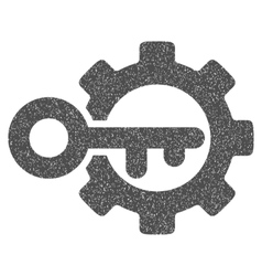 Key Options Grainy Texture Icon vector image