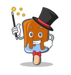 Magician ice cream character cartoon vector