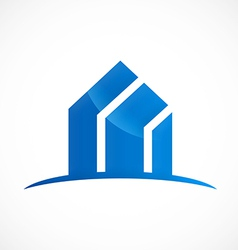 modern building absract logo vector image vector image