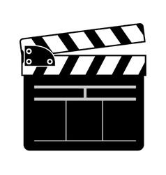 movie clapboard icon vector image vector image