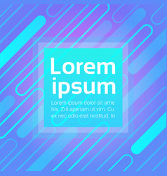 Neon graphic banner with abstract copy space vector