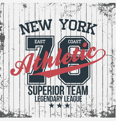 new york sportswear emblem athletic university vector image vector image