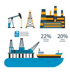 oil gas industry manufacturing gas vector image