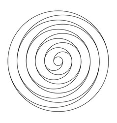 simple black and white spiral design element vector image