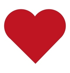 simple red heart vector image vector image