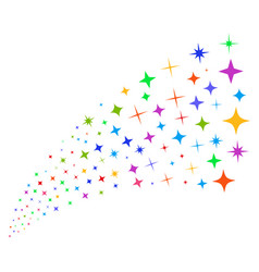 Source stream of shine stars vector