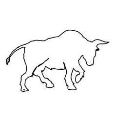 stock market bull symbol vector image vector image