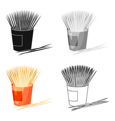 Toothpicks icon in cartoon style isolated on white vector