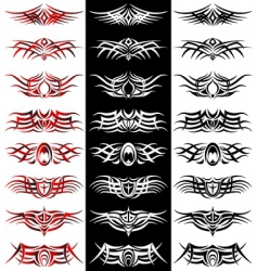 tribal tattoo pack vector vector image
