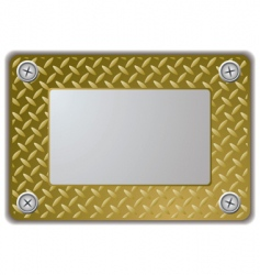 Metal mirror frame vector