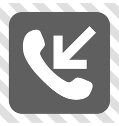 Incoming call rounded square button vector