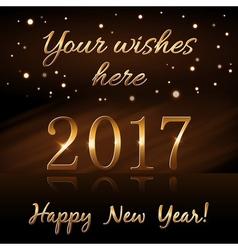 Happy new year background gold rain vector