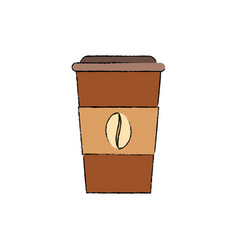 Delicious coffee drink vector
