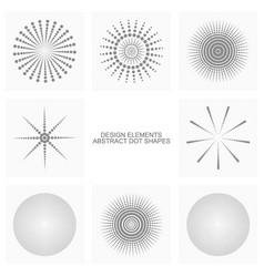 abstract dot shapes set vector image