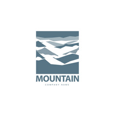 Mountains logo template vector