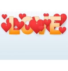 Background beautiful red heart vector