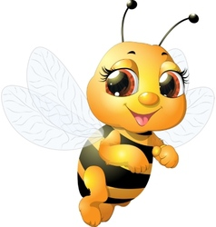 Beautiful bee vector