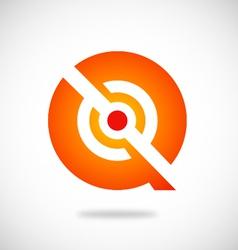 Q symbol round technology logo vector image