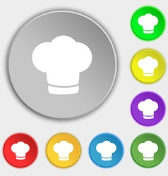 Chef hat sign icon cooking symbol cooks hat vector