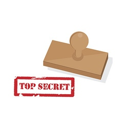Rubber stamp with text top secret vector