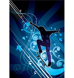 Abstract skateboarder vector