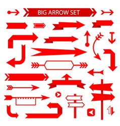 Arrow collection flat design vector image vector image
