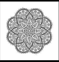 beautiful monochrome contour mandala vector image