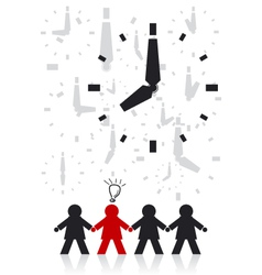 Businessman and Time vector image vector image