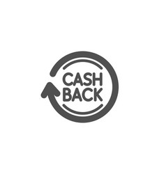 Cashback service simple icon money transfer vector